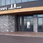 Elite Blue & Colonial Classic Granite Drystack Sawn Height Milestone Niagara