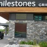 Elite Blue & Colonial Classic Granite Drystack Sawn Height Milestone entrance