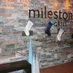 Elite Blue & Colonial Classic Granite Drystack Sawn Height Milestone inside wall