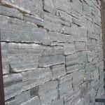 Elite Blue Granite Drystack Ledgerock wall close view