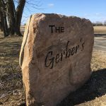 Pink Granite Engraved Sign