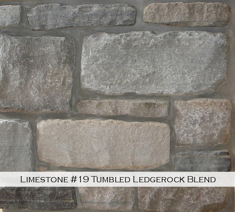 Limestone #19 Tumbled Legderock Blend