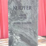 Elite Blue Granite Polished Headstone