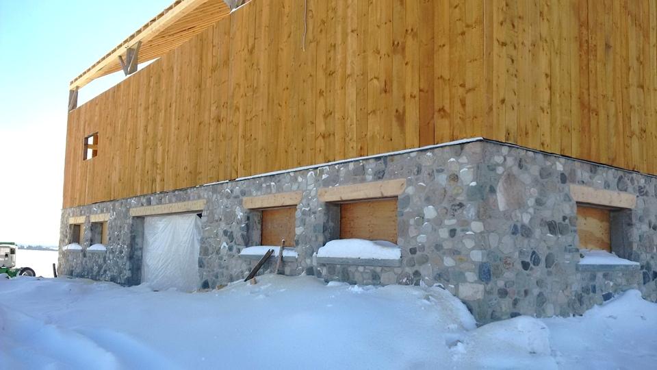 barn foundation rebuild