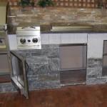 bbq kitchen elite blue granite during build