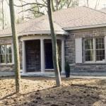 brown limestone ledgerock house