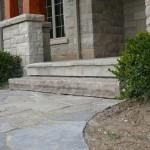 Brown Limestone Rockfaced Step