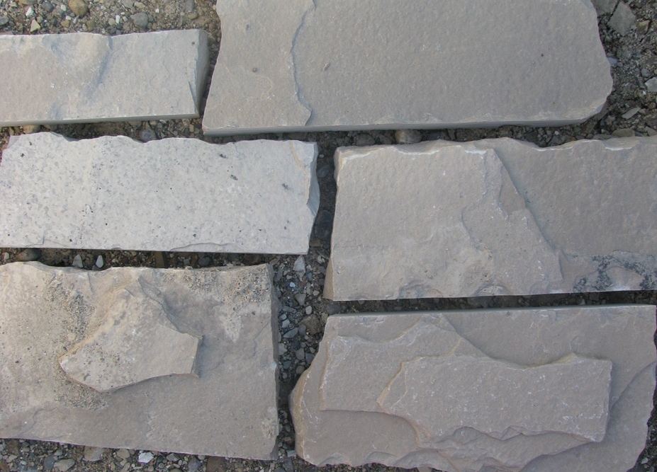 Charcoal Limestone Squared Closeup