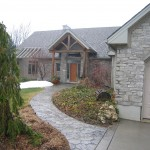 charcoal limestone tigerstripe tumbled legerock entrance