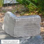 charcoal limestone tumbled ledgerock veneer corner