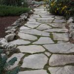 charcoal limestone walkway random flag
