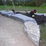 elite blue granite armor stone driveway edging