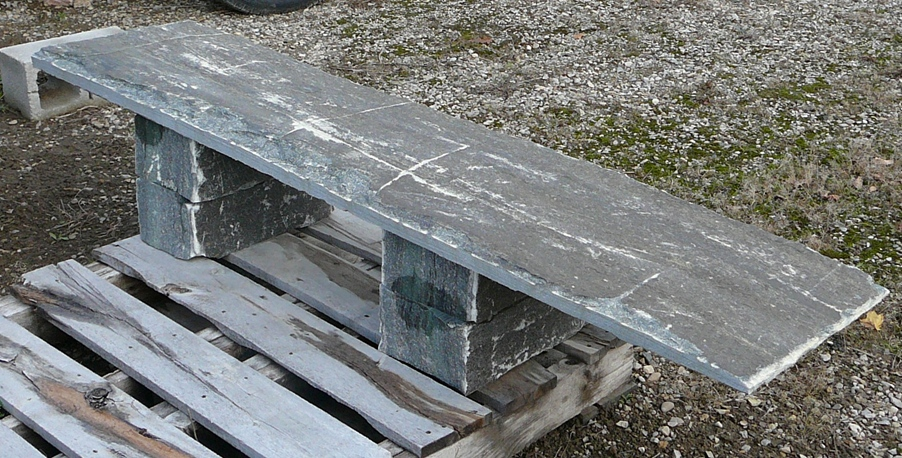 elite blue granite bench