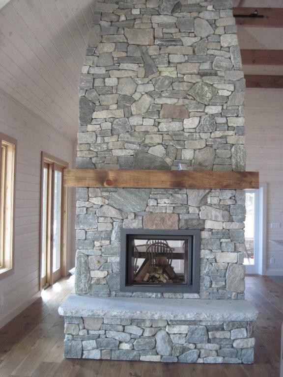 elite blue granite colonial classic granite tumbled blend seethru fireplace