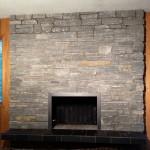 elite blue granite ledgerock csfireplace