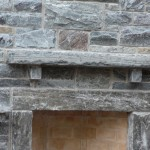 elite blue granite outdoor fireplace mantle