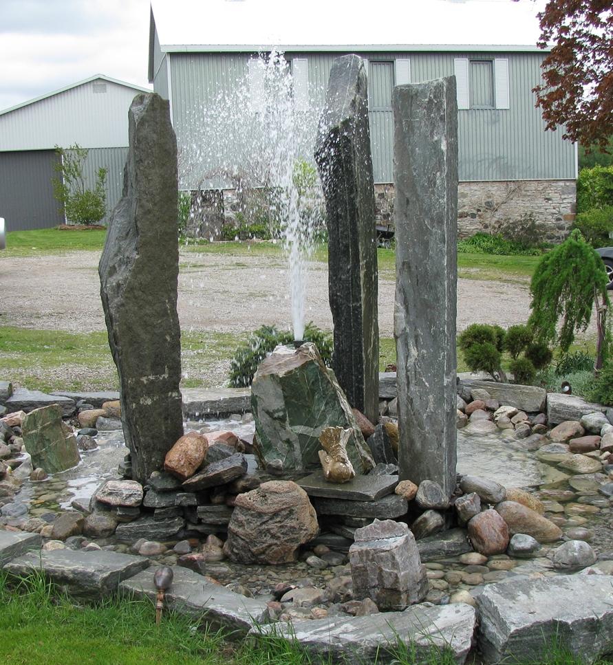 Elite Blue Granite Pillars Water Feature