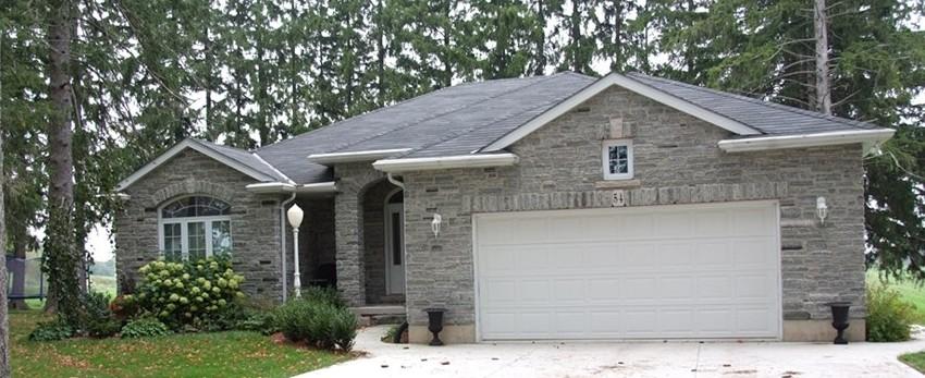 elite blue granite tumbled house ledgerock