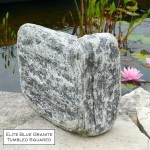 elite blue granite tumbled squared veneer corner