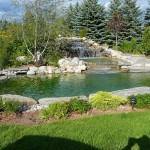 elite blue granite waterfall stone side