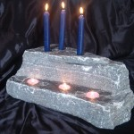 elite blue grantie candle holder