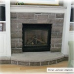 fireplace charcoal limestone ledgerock