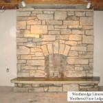 fireplace weatheregde limestone weathered ledgerock