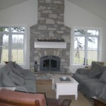fireplaceweatheredge limestone tumbled blend on fireplace