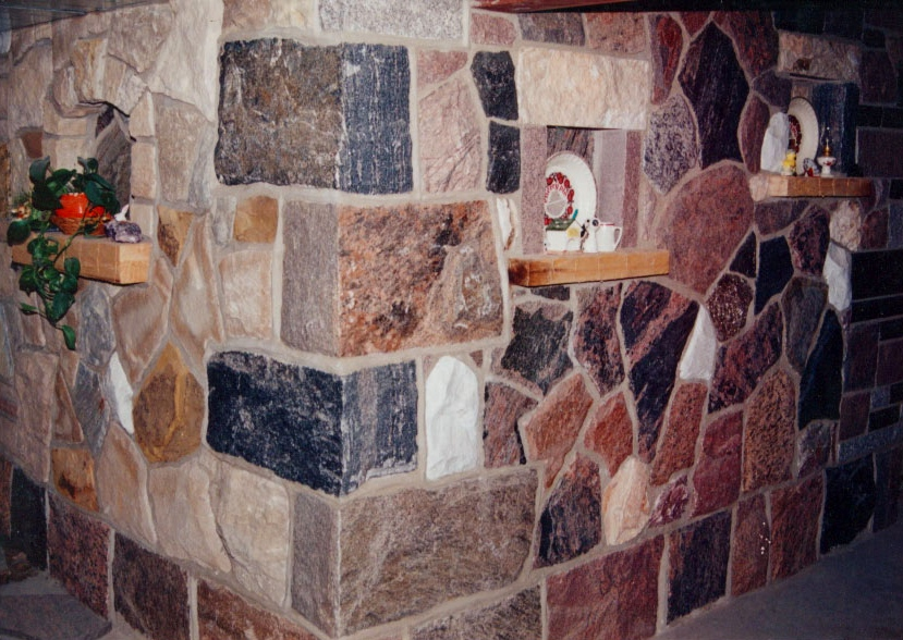 "Granite Full Thickness Building Stone ""L"" Shaped Corners"