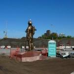 granite fire fighters memorial statue