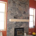 granite random blend fireplace indoor