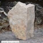 harvest gold limestone random veneer corner