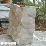 harvest gold limestone squared veneer corner