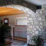 harvest gold limestone tumbled blend arch