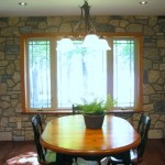 harvest gold limestone tumbled blend dining room