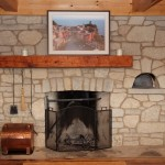 harvest gold limestone tumbled blend indoor fireplace