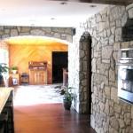 harvest gold limestone tumbled blend indoor kitchen