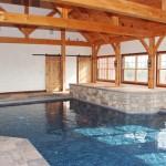 harvest gold limestone tumbled blend pool house hot tub