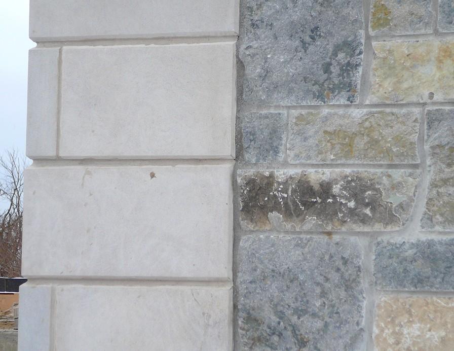 Indianna Limestone Extremely Large Corners with Chamfered Edge