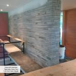 interior stone charcoal limestone sawn wall