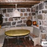 interior stone feildstone dining room wall