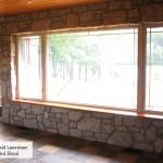 interior stone harvest gold limestone dining room wall