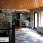 interior stone harvest gold limestone tumbled blend indoor area