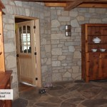 interior stone harvest gold limestone tumbled blend indoor wall