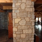 interior stone harvest gold limestone tumbled blend indoor wall end