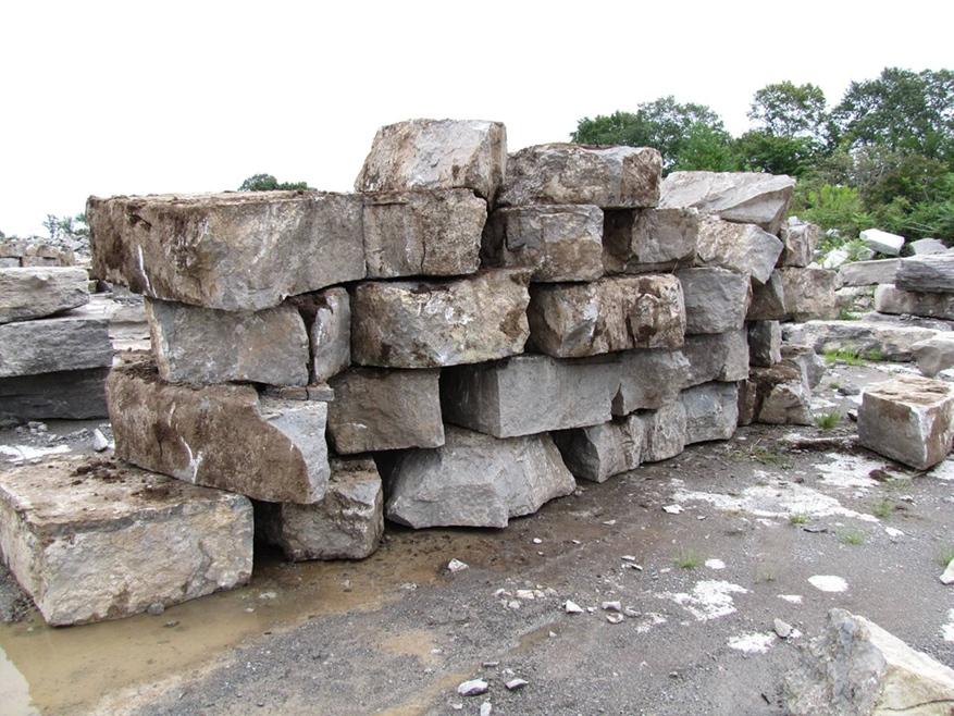 Mocha Brown Limestone Armor Stone