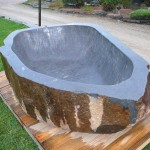 natural stone tub top view