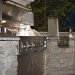outdoor living grill closeup
