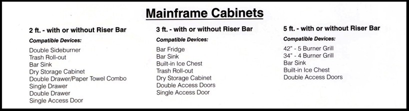 outdoor living mainframe cabinets