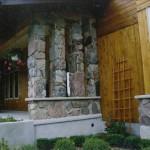 split fieldstone pillars